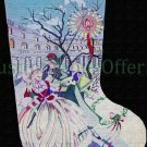 Rare Edie Ginger Hand Painted Needlepoint Stocking Canvas CJ128 Piazza San Marco
