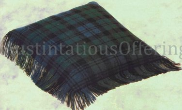 SCOTTISH CLAN LUXURIOUS WORSTED WOOLS COUNTED NEEDLEPOINT PILLOW KIT FAMILY BLACK WATCH TARTAN