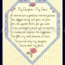 SANDI PHIPPS HEART CROSS STITCH SAMPLER KIT DAUGHTER MY FRIEND