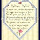 SANDI PHIPPS HEART CROSS STITCH SAMPLER KIT DAUGHTER MY FRIEND
