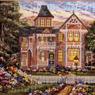 RARE VICTORIAN STYLE HOME SUMMER TWIGHLIGHT GARDEN NEEDLEPOINT KIT