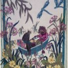 Rare EH Shepard Rat Mole Boating on Thames Crewel Embroidery Kit Grahame Wind in Willows