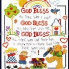 Inspirational Childhood Prayer Cross Stitch Kit Teddy Bear God Bless