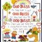 Inspirational Childhood Prayer Cross Stitch Kit Teddy Bear God Bless