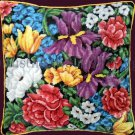 Rare Marchie Vibrant Spring Garden Needlepoint Kit Abundant Floral Irises Peonies Tulips More