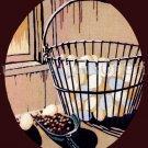 Rare Reinardy Farm Still Life Egg Basket Crewel Embroidery Kit Feeding the Chickens