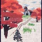 Rare Noel Artwork Repro Autumn Farm Crewel Embroidery Kit Fall Foliage Suits Beginners
