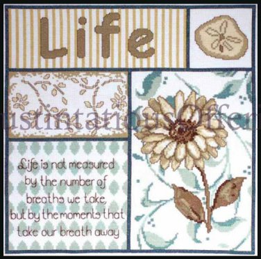 CONTEMPORARY VERSE CROSS STITCH KIT MEASURE OF LIFE