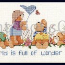 Rare Gillum Nature Lover Teddy Bears Butterfly Bug Hunting Cross Stitch Kit Wonder and Joy