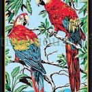 RARE TROPICAL PARADISE PARROTS NEEDLEPOINT CANVAS RAINBOW MACAWS MARGOT CREATION DE PARIS