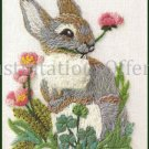 Rare Woodland Animals Series Crewel Embroidery Kit Rabbit Companion Piece