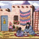 Rare Native American Women at Work  Needlepoint Kit Southwestern Adobe Pueblo Pottery