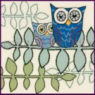 Helen Rhodes Hooty Owls on Branches  Crewel Embroidery Kit Suitable for Beginners