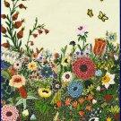 Rare Wildflower Fantasy Crewel Embroidery Kit Abundant Spring Flower Garden