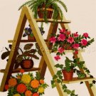 RARE GERRISH GARDEN LADDER CREWEL EMBROIDERY KIT FERN MARIGOLDS PETUNIAS