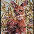 Rare Brenders Spotted Fawn Wildlife Art Repro  Counted Cross stitch Kit Young White Tailed Deer
