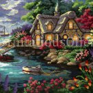Rare Nicky Boehme Seaside Cottage Needlepoint Kit Welcoming Harbor Home