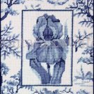 RARE LECLAIR FORMAL BLUE WHITE TOILE NEEDLEPOINT  KIT WILLIAMS BLUE IRIS