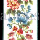 Rare Marchie Vibrant  Floral  Crewel Embroidery Kit Cascading Bellpull