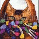 Rare Sherrie Stepp-Aweau Stitching Buddy Cross Stitch Kit Crafty Kitty Cat