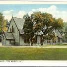 PROTESTANT CHAPEL FORT MONROE VA VIRGINIA KAUFMANN postcard