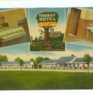 Sleep e Hollow Motel Trenton NJ New Jersey 1951 linen Postcard