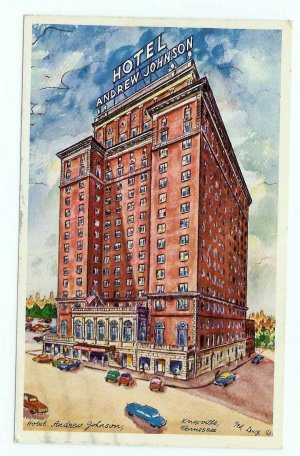 Hotel Andrew Jackson Knoxville TN Tennessee Ted Lewy postcard