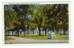 Pocahontas Basin Petersburg VA Virginia Central Park 1920 postcard