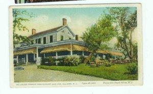 Vintage Postcard De Lisles French Restaurant Inn Allaire NJ New Jersey Shark River