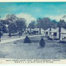 Rock Garden Motor Court  North Clarendon VT Vermont RT US7 Postcard