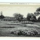 Postcard Monmouth Park Monmouth IL Illinoise BW 1945