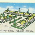 Erin Swiss Motel Fremont Nebraska Postcard used postmarked 1953