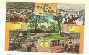Rockton Illinois IL Postcard USA The Wagon Wheel Lodge