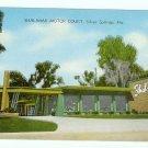Shalimar Motor Court Silver Springs FL Florida Postcard linen
