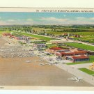 Municipal Airport Cleveland OH Ohio Linen Postcard