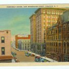 Vanderbilt Square East Washington Street Syracuse NY Postcard 1939