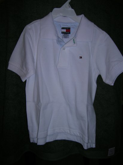 Tommy Hilfiger Boys Short Sleeve Pique Polo Shirt 2 White