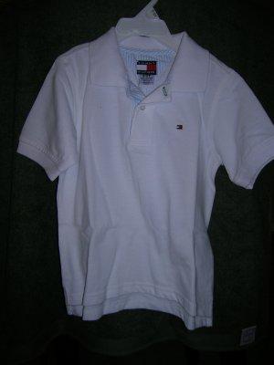 Tommy Hilfiger Boys Short Sleeve Pique Polo Shirt 2 White
