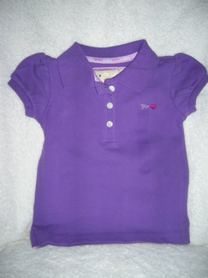 Puff sleeve polo/purple vic/18-24 M