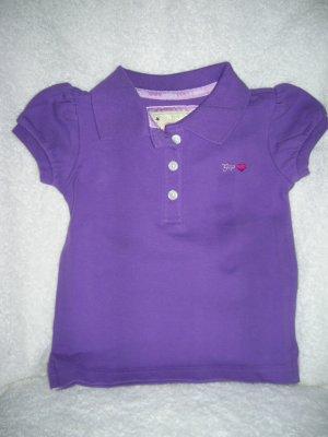 Puff sleeve polo/purple vic/18-24 M