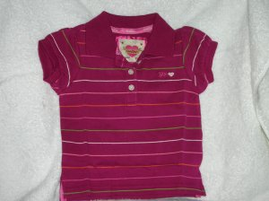 Puff sleeve stripe/multi stri/18-24 M