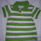 Puff sleeve stipe/green stripe/18-24 M
