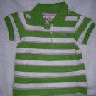 Puff sleeve stipe/green stripe/18-24 M
