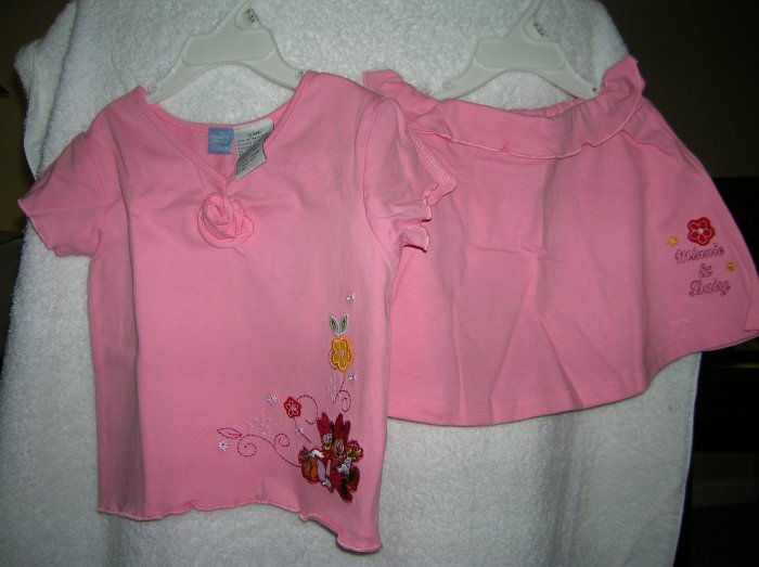 Pink Magic 24 Mo Disney Minnie & Daisy Skirt & Blouse Set