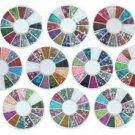 10 Nail Art Rhinestone Wheel