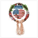 """GOD BLESS AMERICA'' WREATH 32345"