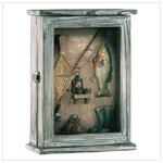 Fishing Shadowbox Key Cabinet 33175