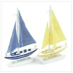 New! Wood Sailboats 37553