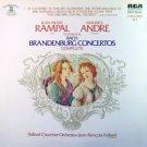 RAMPAL & ANDRE Brandenburg Concertos 2 LPs Paillard