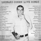 leonard cohen ; live songs / kc31724